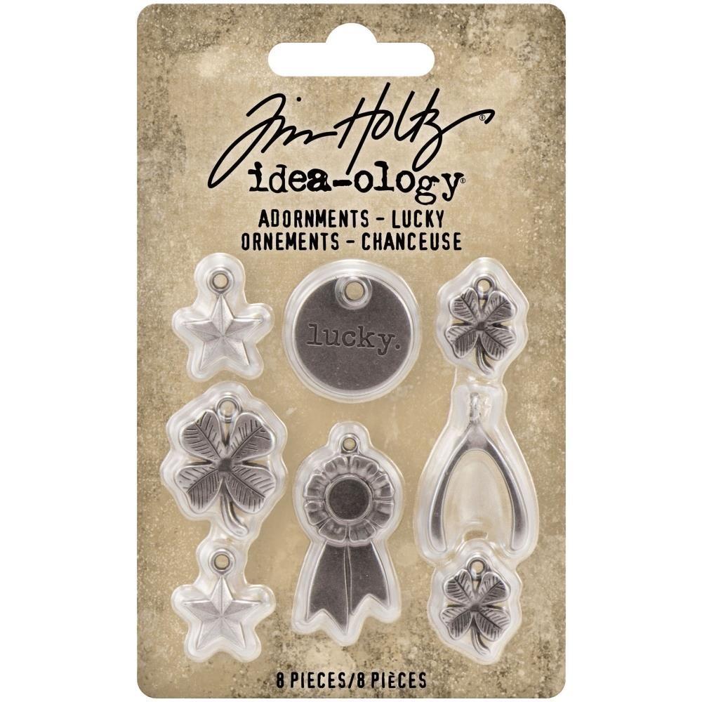 Tim Holtz Idea-Ology Adornments Lucky  8/pkg