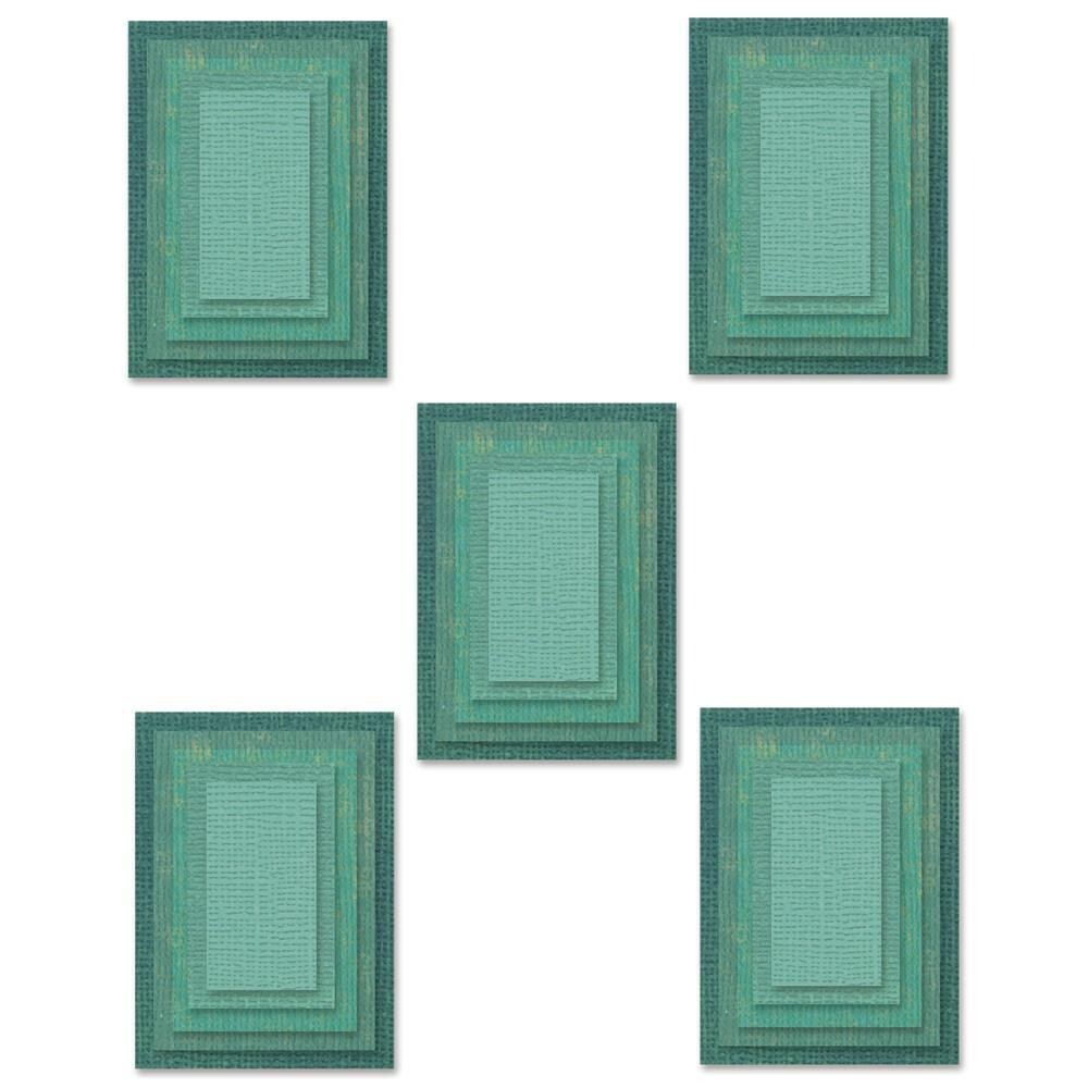Tim Holtz Sizzix Thinlits Die Stacked Tiles Rectangles 25/pkg