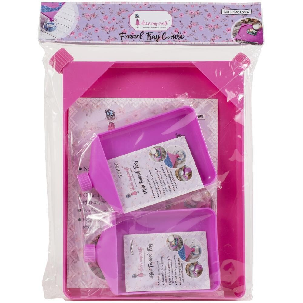 Dress My Crafts Funnel Tray Combo 3/pkg