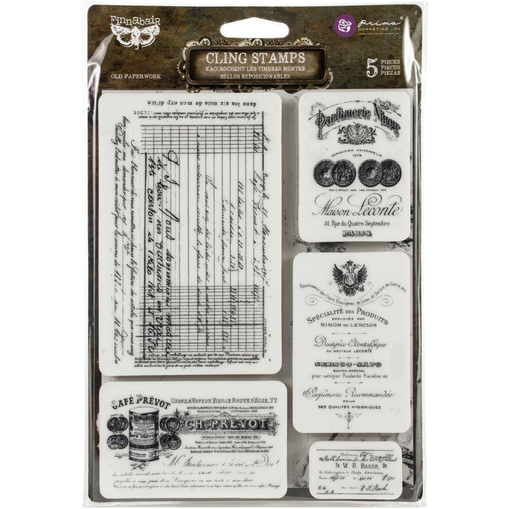 "Finnabair Cling Stamps 6""X7.5"" Old Paperwork"