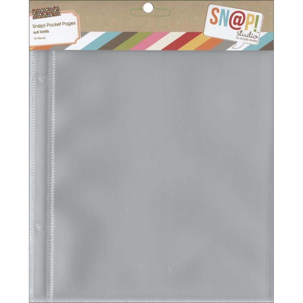 """Simple Stories SN@P Pocket Pages 6x8"""" Refills 10/pkg"""