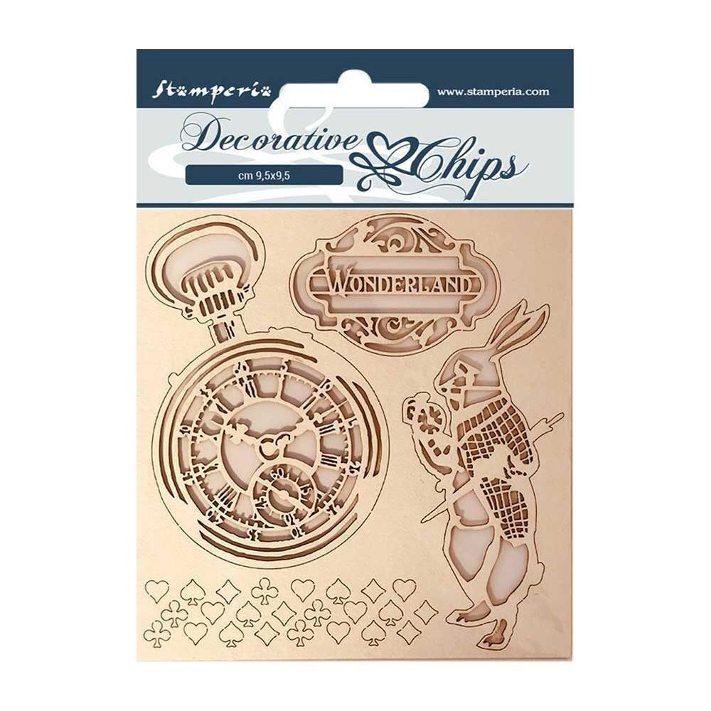 "Stamperia Alice - Decorative Chips 5.5x5.5"""