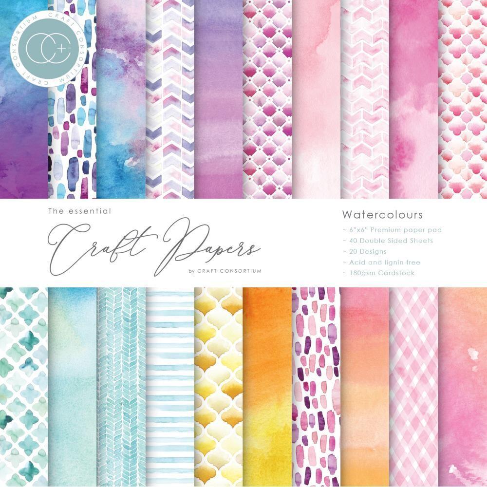 Craft Consortium Watercolours Paper Pad 6x6