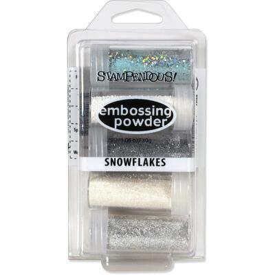 Stampendous Embossing Powder Snowflake 5/pkg