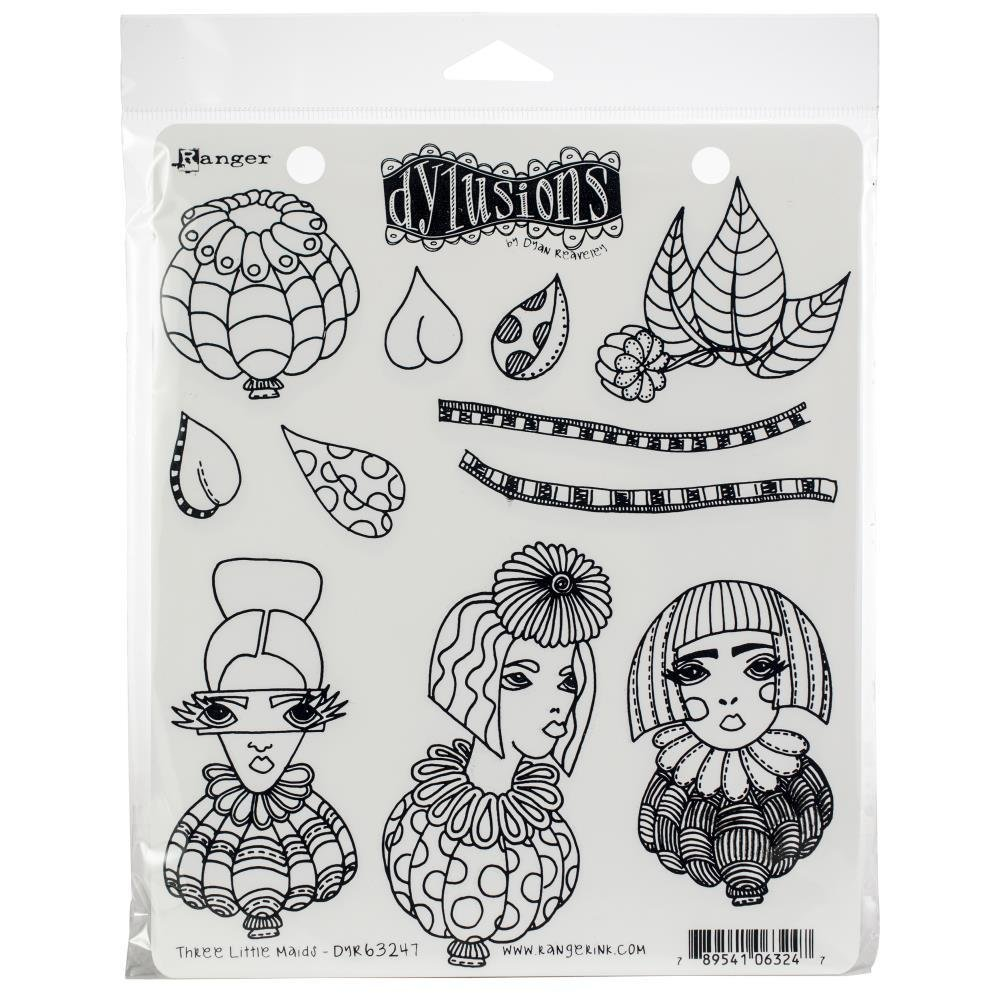 Dylusions Cling Stamps - Assorted