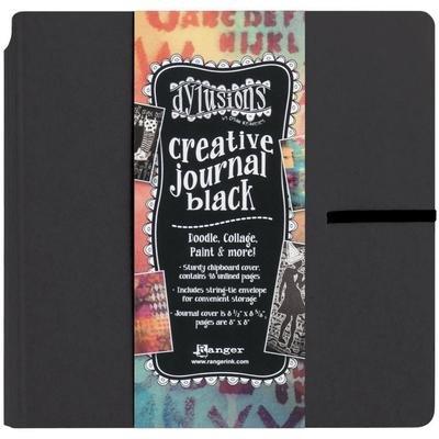 "Dylusions Creative Journal Black 8.75""x9"""