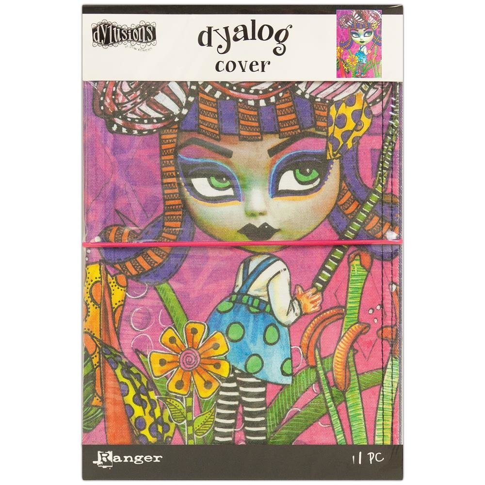 "Dylusions Dyalog Canvas Printed Cover 5""X8"""