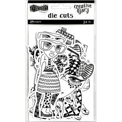 Dylusions Creative Dyary Die Cuts - Assorted