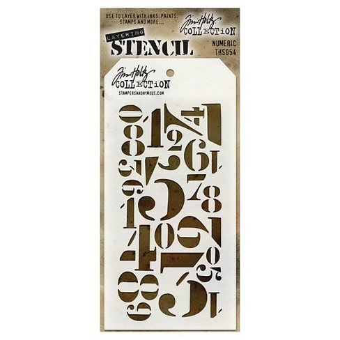 "Tim Holtz Layering Stencil 4.125""X8.5"""