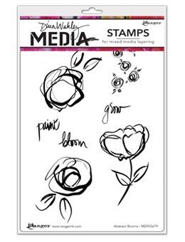 "Dina Wakley Media Cling Stamps 6""X9"" assorted"