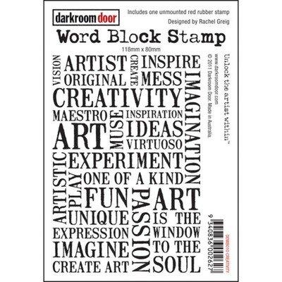 Darkroom Door Word Block Stamp - Assorted