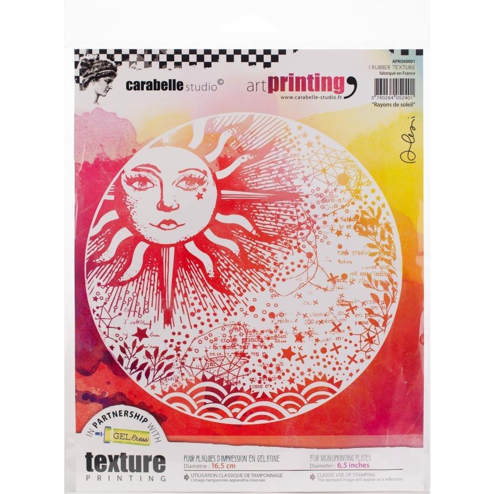 Carabelle Studio Art Printing Round Rubber Texture Plate Sunbeam
