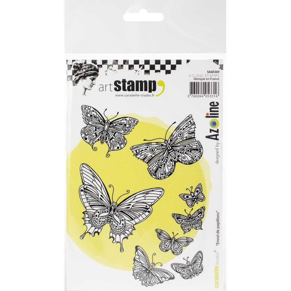 Carabelle Studio Background Cling Stamp A6 - Assorted