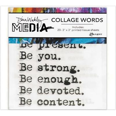 Dina Wakley Media Collage Word Pack - Assorted