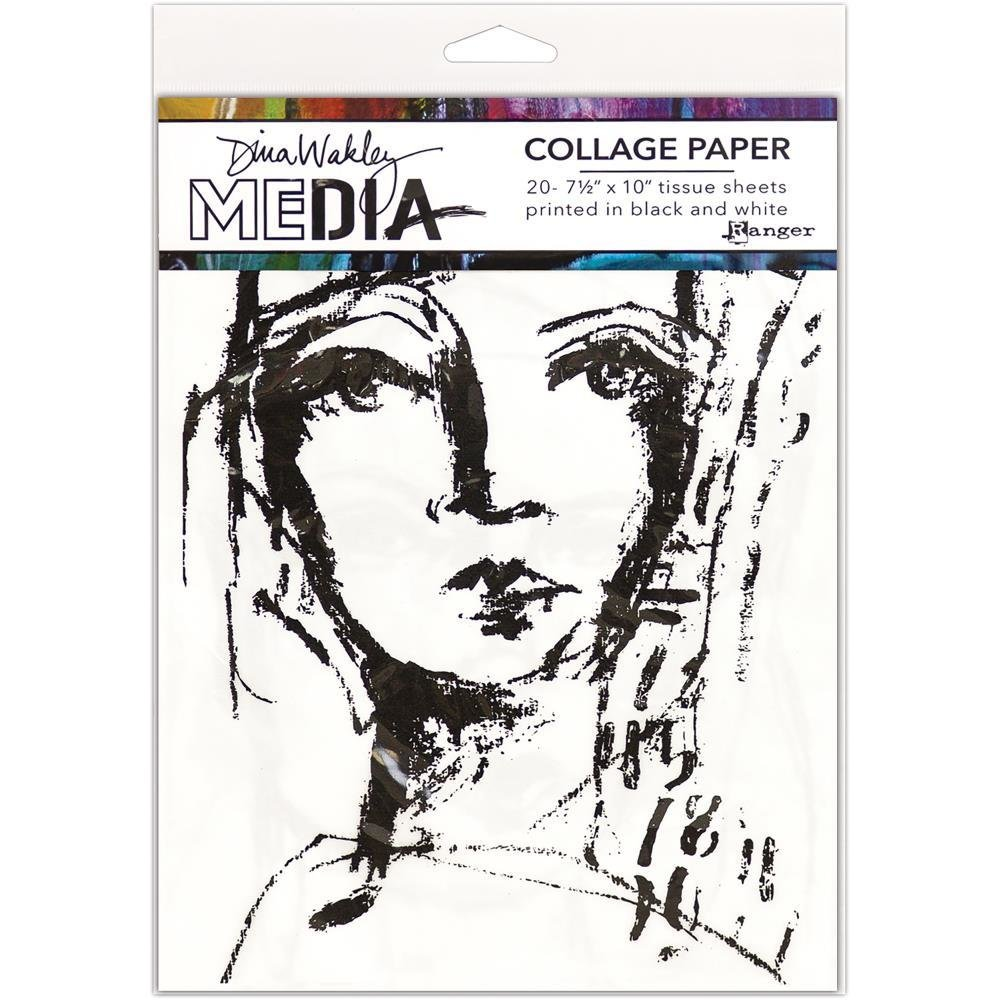 "Dina Wakley Media Collage Tissue Paper 7.5""X10"" 20/Pkg"