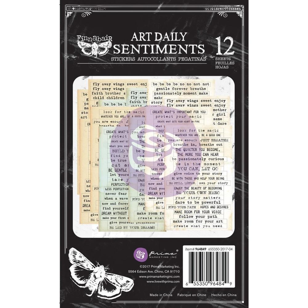 "Finnabair Art Daily Planner Sticker Pad 4.5""X7.5"" 12/Pkg"