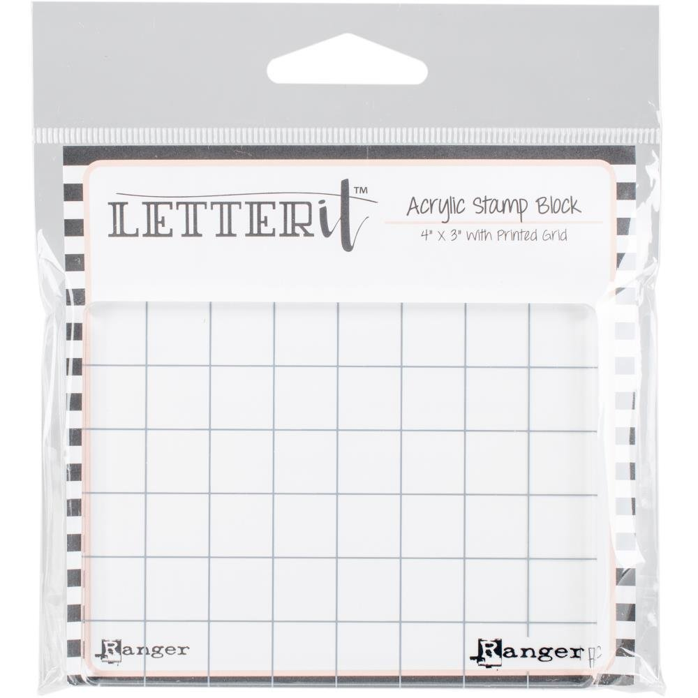 "Ranger Letter It Acrylic Stamping Block 4""X3"""
