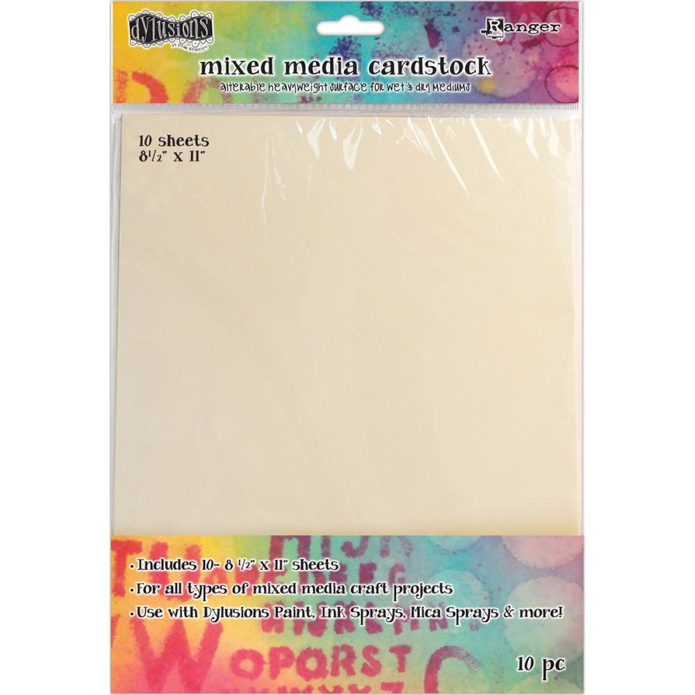 Dylusions Mixed Media Cardstock 10/Pkg