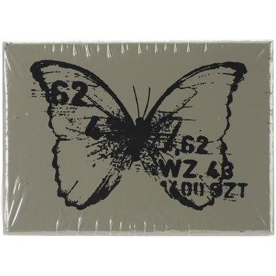 """Finnabair Wood Mounted Stamp Butterfly 1.5""""X2"""""""