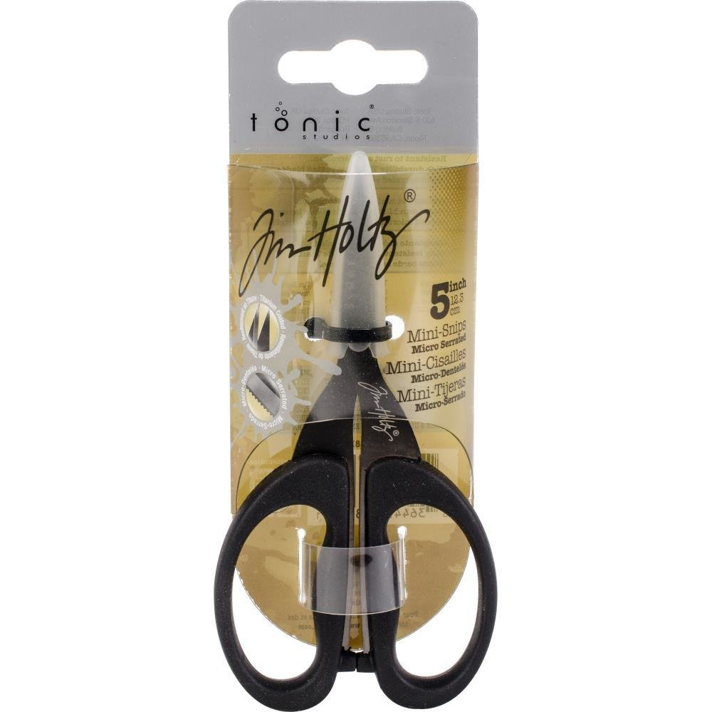 Tim Holtz Non-Stick Micro Serrated Snips - Assorted