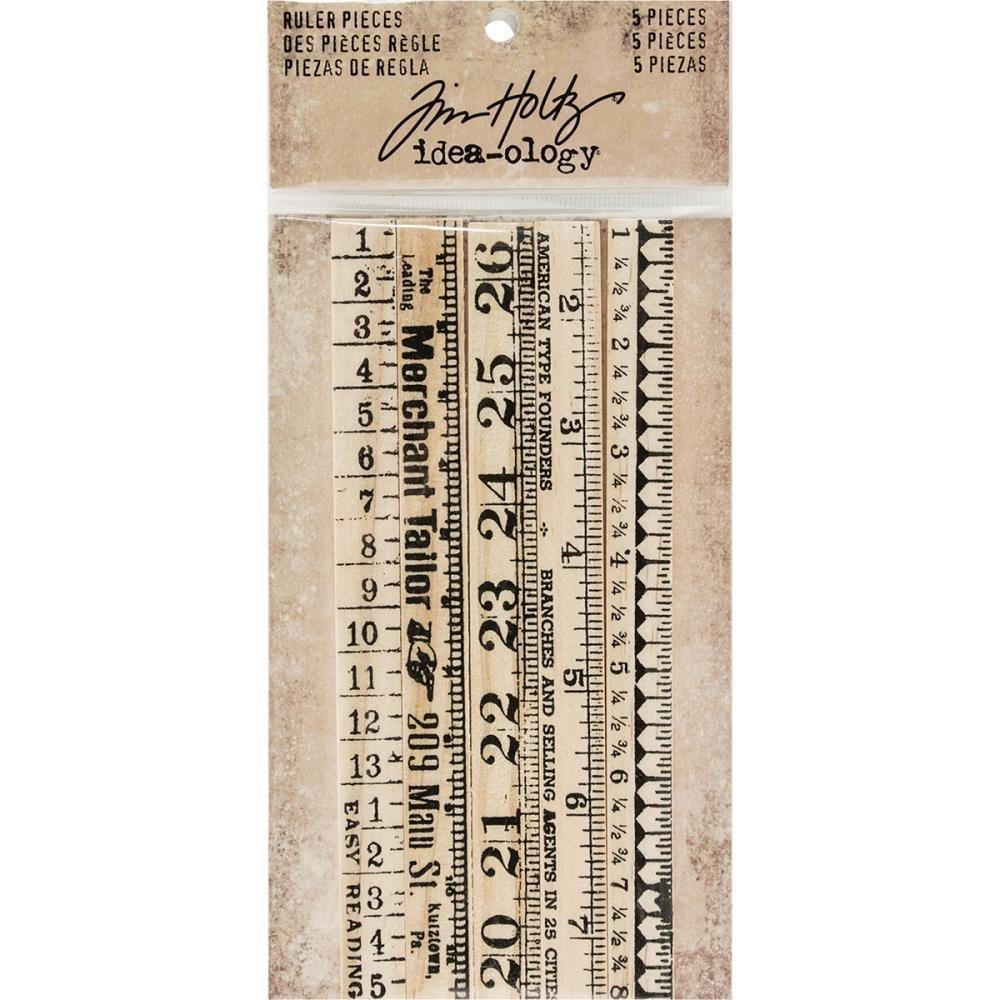 Tim Holtz Idea-Ology Wooden Ruler Pieces