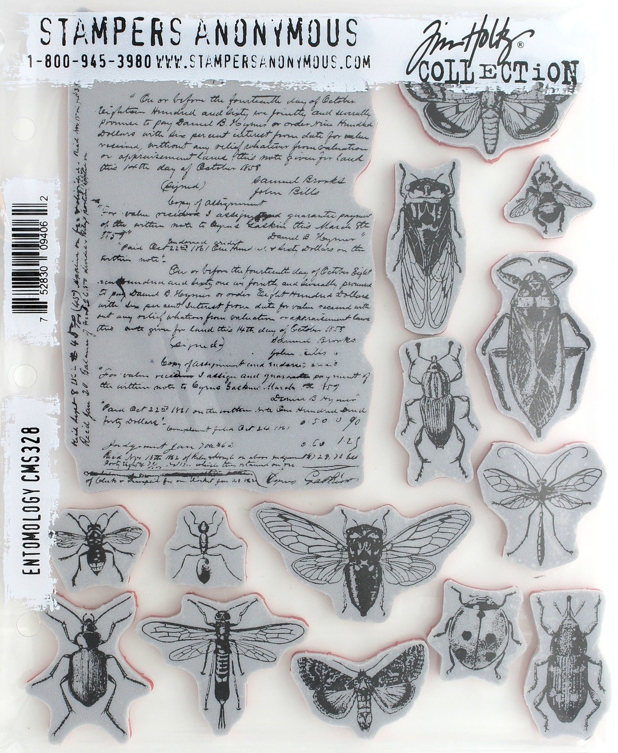 "Tim Holtz Cling Stamps 7""X8.5"" - Assorted"