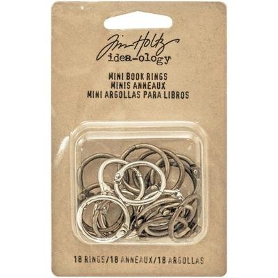 Tim Holtz Idea-Ology Metal Mini Book Rings