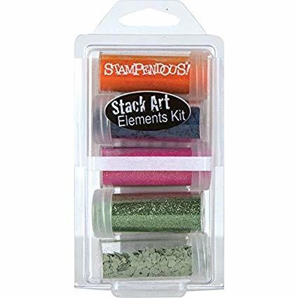 Stampendous Stack Art Elements Kit 70's