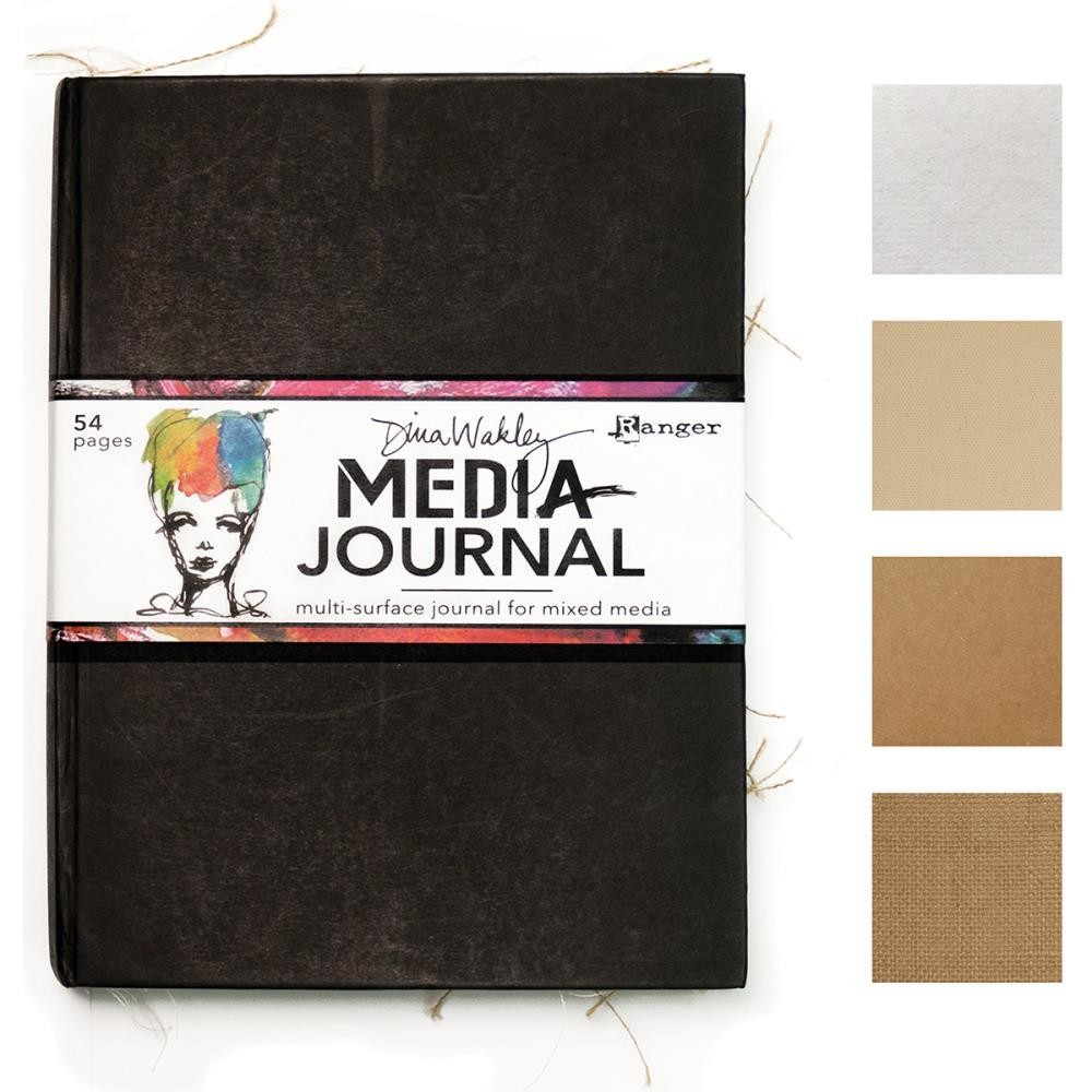 "Dina Wakley Media Journal 8""X10"" Black"