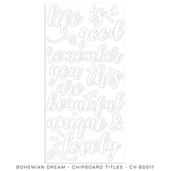 Cocoa Vanilla Bohemian Dream Chipboard Titles