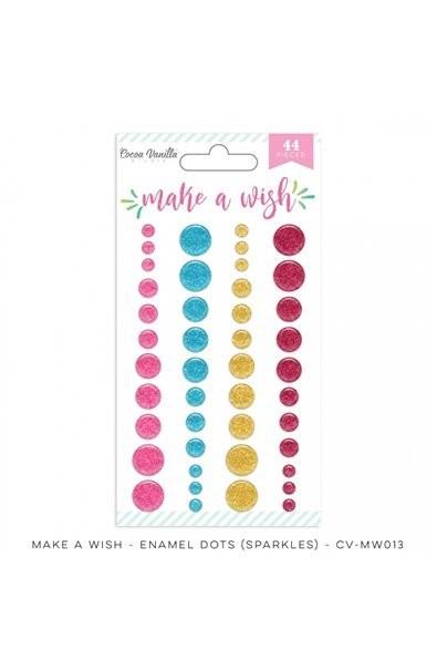 Cocoa Vanilla Make A Wish Enamel Dots Sparkles