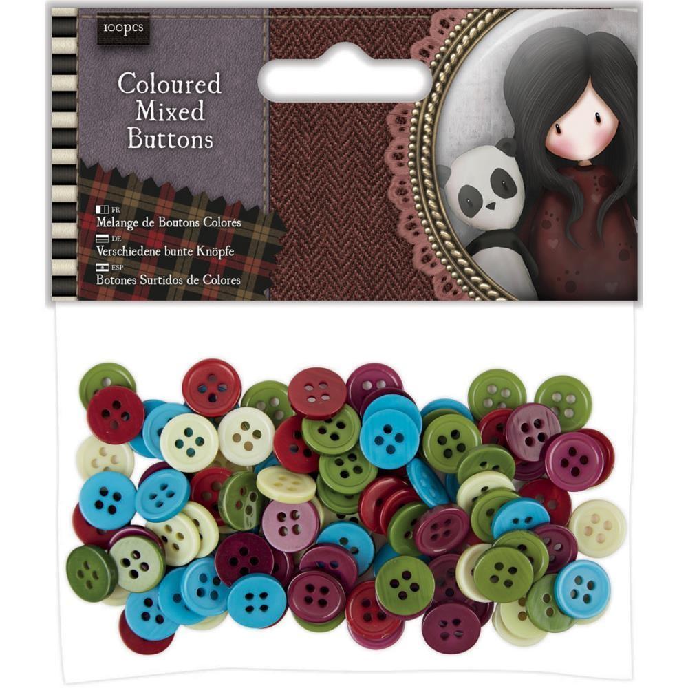 Santoro Gorjuss Tweed Mixed Buttons