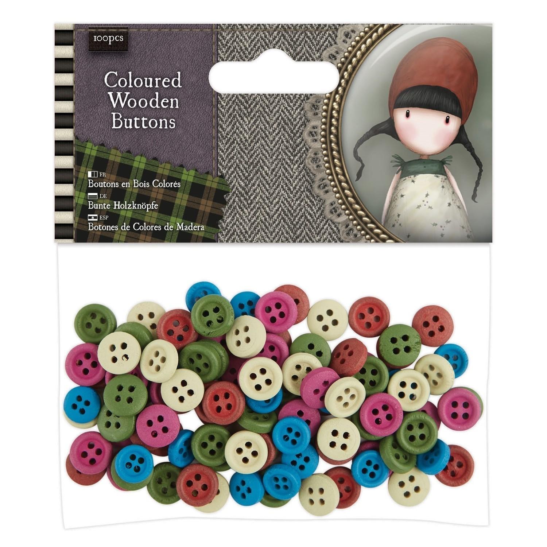 Santoro Gorjuss Tweed Wooden Buttons