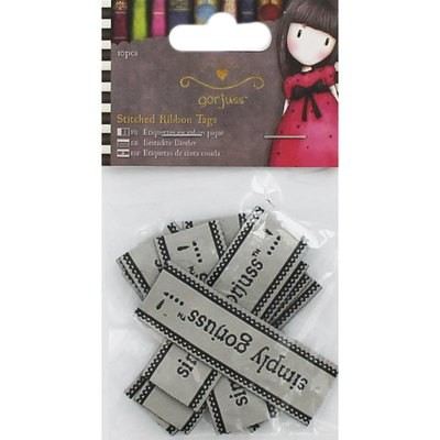 Santoro Simply Gorjuss Stitched Ribbon Tags