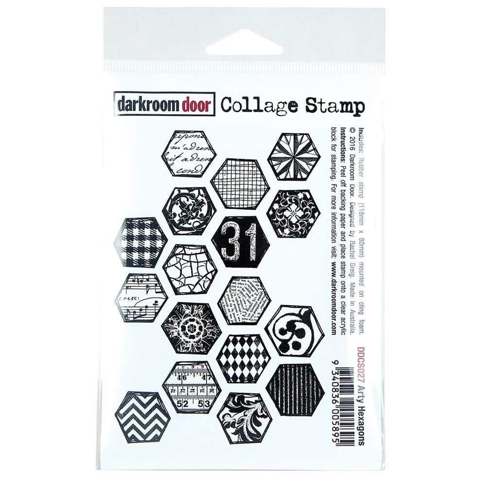 """Darkroom Door Collage Cling Stamp 4.5""""X3"""" - Assorted"""