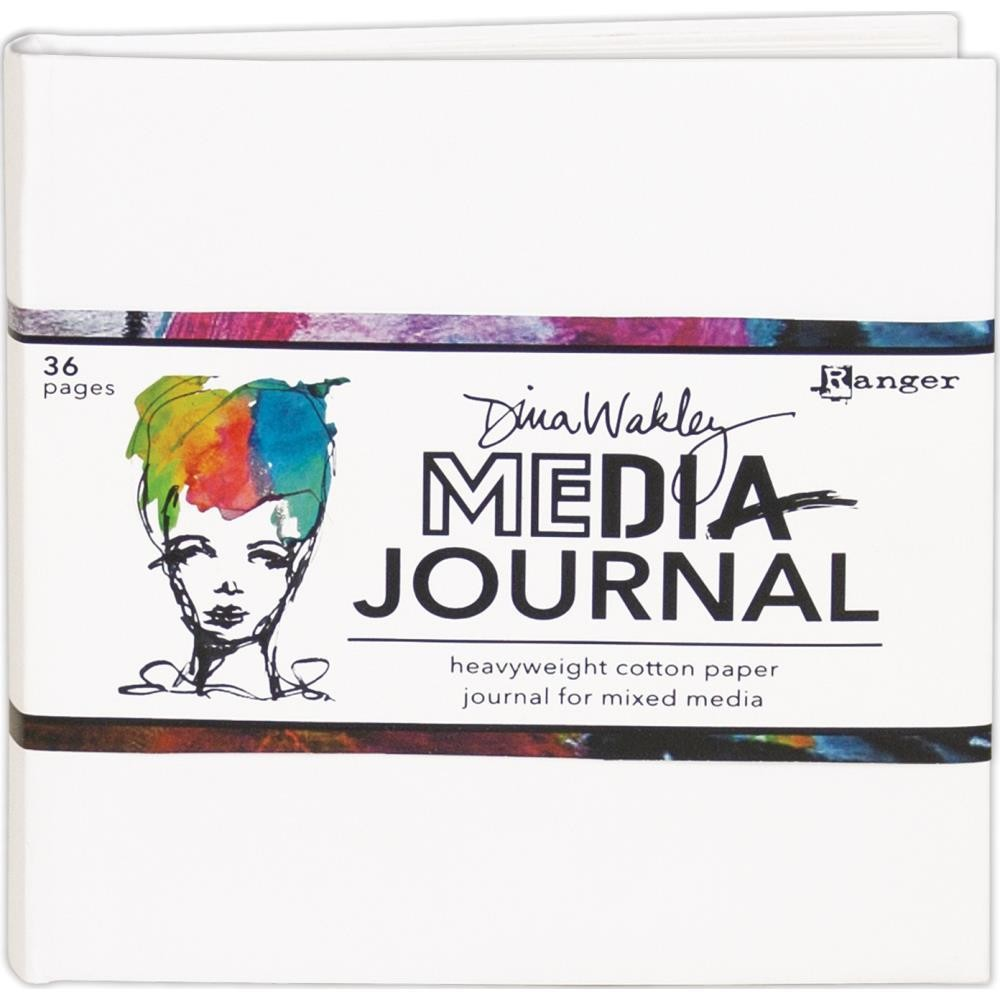 "Dina Wakley Media Journal White 6""X6"""