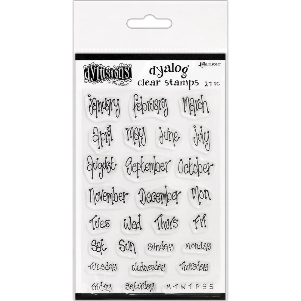 """Dylusions Clear Stamps 4""""X8"""" Blind Date"""