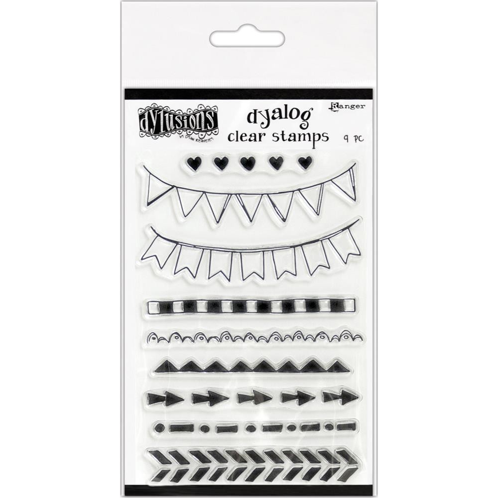 """Dylusions Clear Stamps 4""""X8"""" On The Edge"""