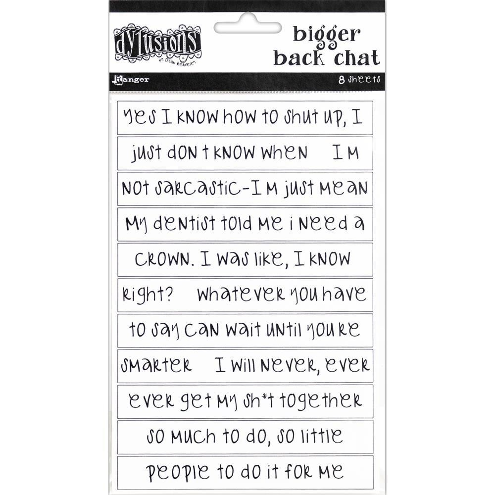 Dylusions Bigger Back Chat Stickers White