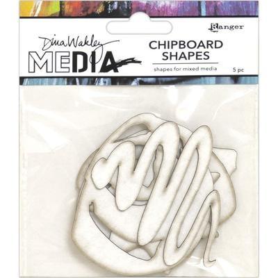 Dina Wakley Media Chipboard Shapes Basics