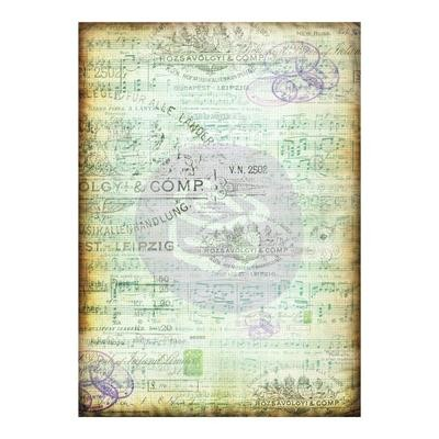 Finnabair Mixed Media Tissue Paper Musica