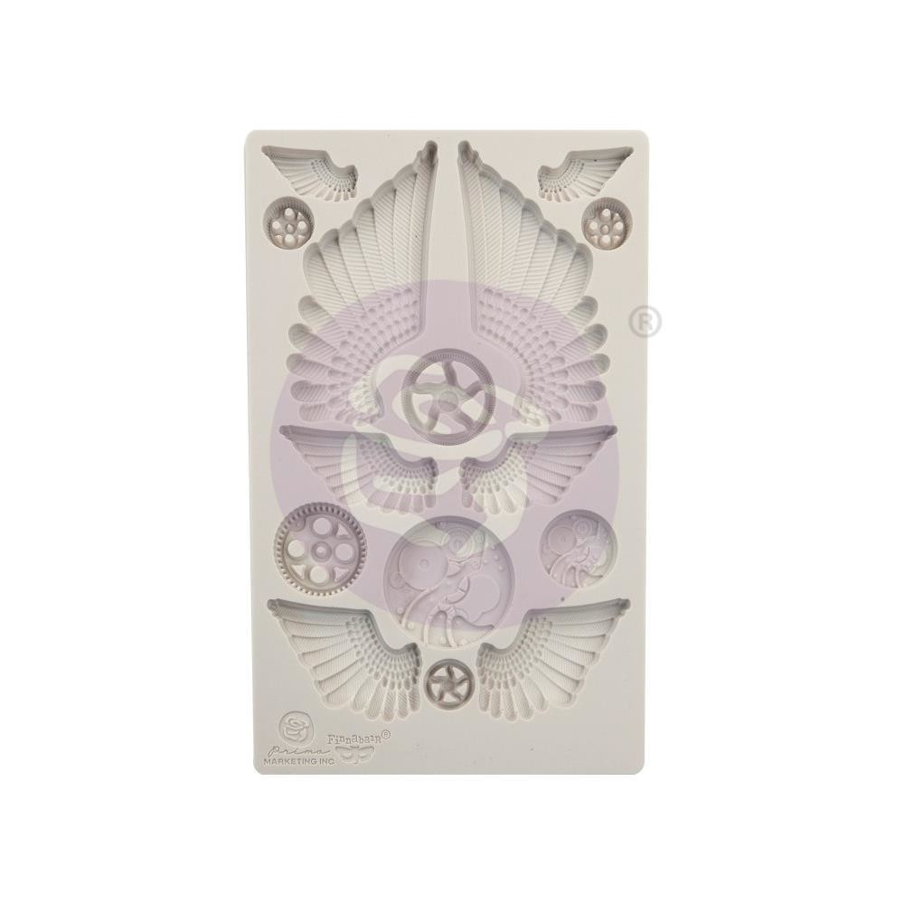 """Finnabair Decor Moulds 5""""X8"""" Cogs & Wings"""