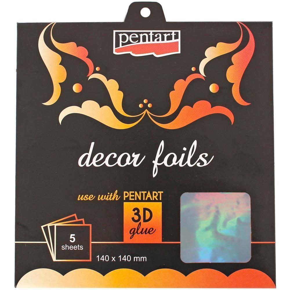 """Decor Foil 5.5""""X5.5"""" 5/Pkg"""