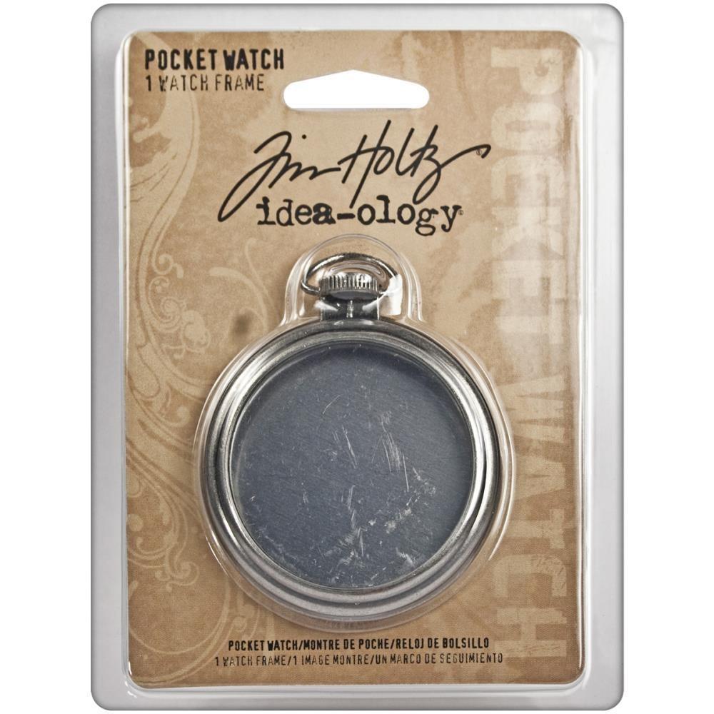 "Tim Holtz Idea-Ology Metal Pocket Watch Frame 2"""