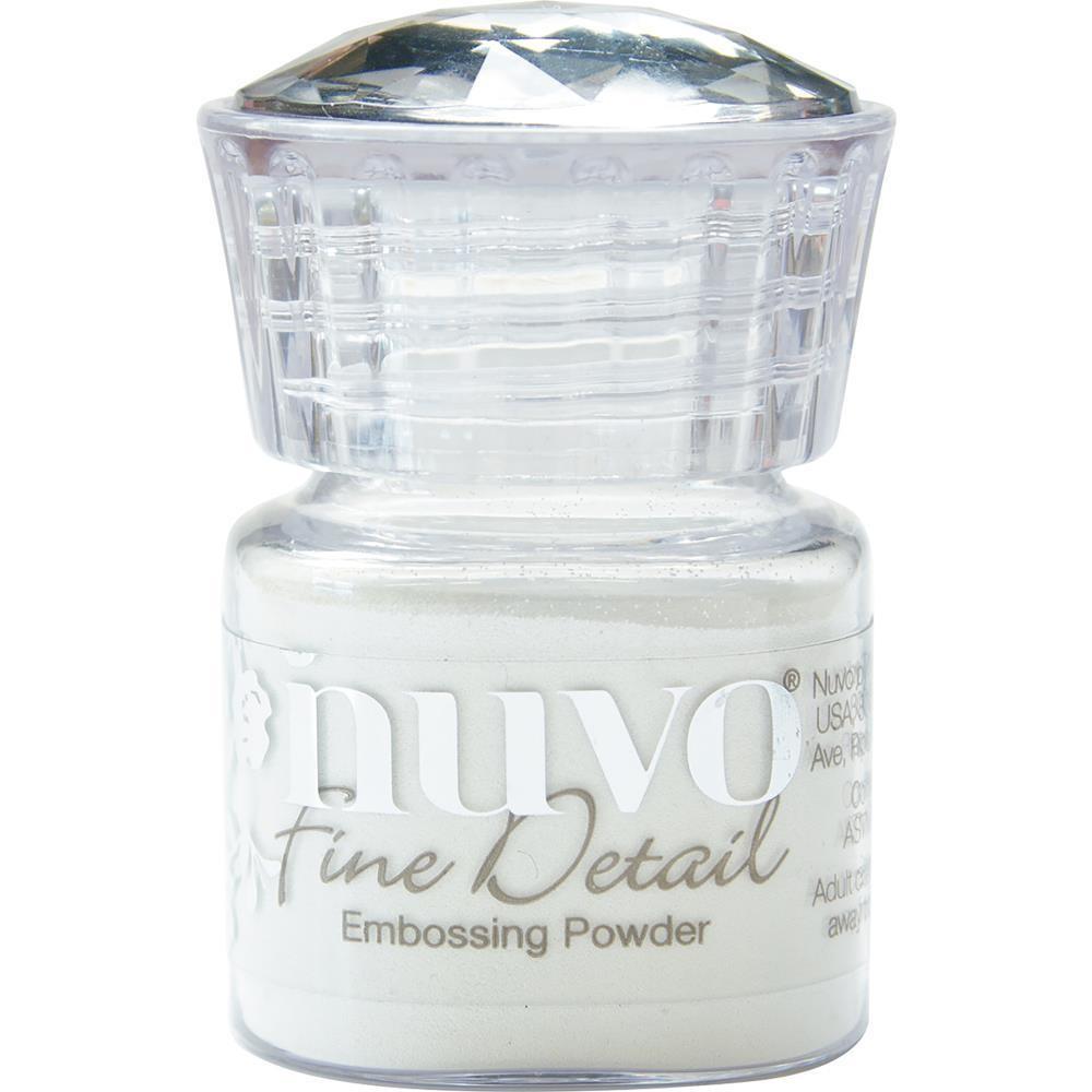 Nuvo Embossing Powder Fine Detail Glacier White