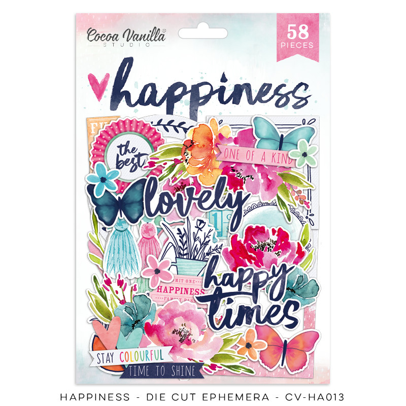 Cocoa Vanilla Happiness Die Cut Ephemera