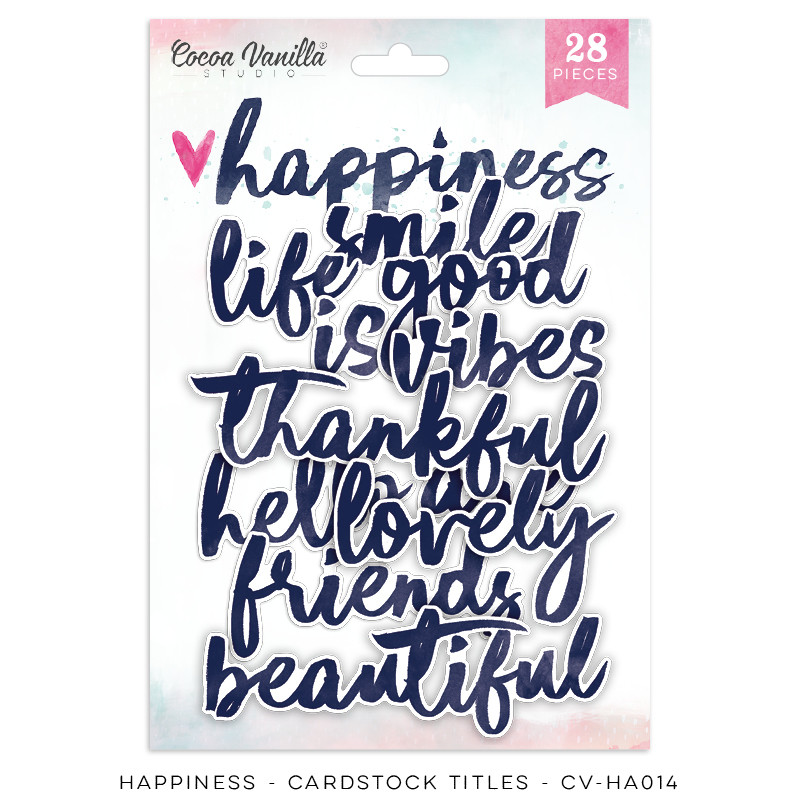 Cocoa Vanilla Happiness Die Cut Titles