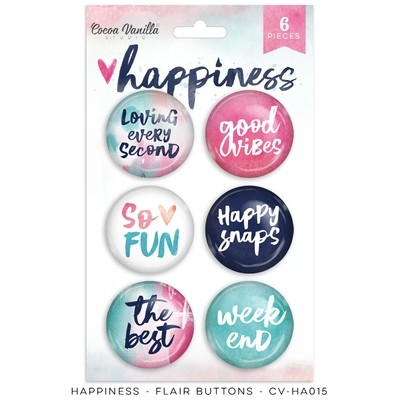 Cocoa Vanilla Happiness Flair Buttons