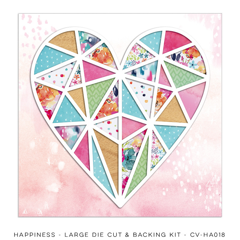 Cocoa Vanilla Happiness Large Die Cut & Backing Kit