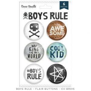 Cocoa Vanilla Boys Rule Flair Buttons